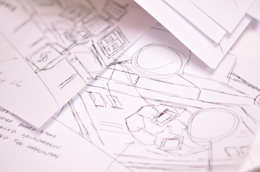 Sketches and wireframes of our new Applied Imagination website redesign.